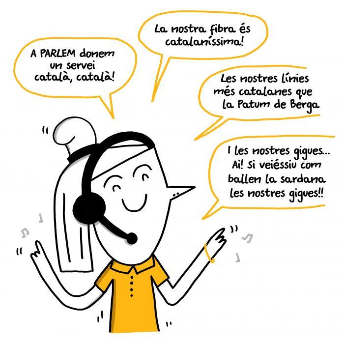 Serie de viñetas para las redes sociales de PARLEM telecom. Se creó un personaje (Nona) que comenta en tono de humor distintos frenos que la companía quiere romper.
